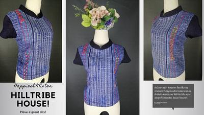 เสื้อคอจีน ผ้าใยกัญชงอย่างดี และลวดลายพิเศษ ใส่แล้ว สวยดูกระชับขึ้น ใส่เเล้วดูมา สง่าราศี เหมาะกับวัยทำงาน